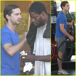 Shia LaBeouf: Sandwich Lunch in Los Angeles!