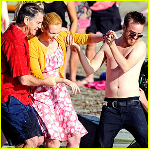 Aaron Paul: Shirtless Swim for 'A Long Way Down'!