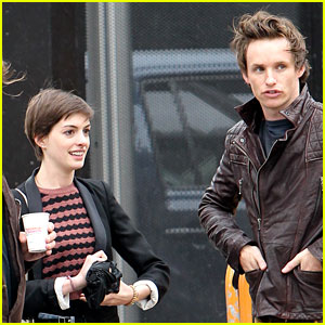 Anne Hathaway: Studio Visit with Eddie Redmayne!