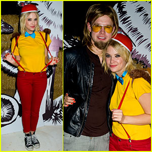 Ashley Benson &#038; Chord Overstreet - Just Jared Halloween Party 2012