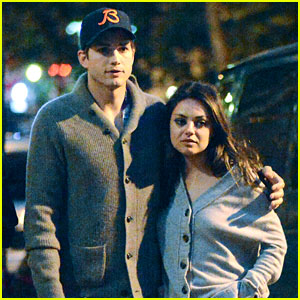 Ashton Kutcher & Mila Kunis: West Village Dinner Date!