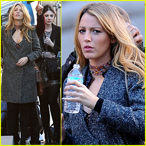 Blake Lively: 'Gossip Girl' Water Break!