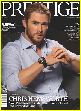 Chris Hemsworth Covers 'Prestige' October 2012
