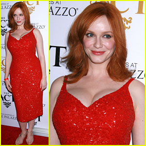 Christina Hendricks Opens 'The Act' Nightclub in Las Vegas!