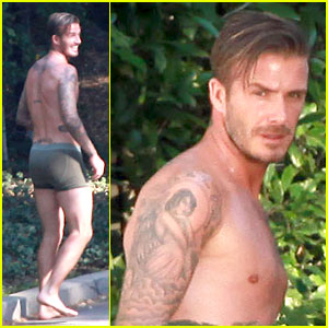 David Beckham: Shirtless Briefs H&M Photo Shoot in Beverly Hills!