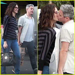 Emmy Rossum Kisses Mystery Man in Studio City!
