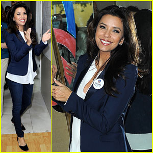 Eva Longoria Campaigns for Obama in West Palm Beach