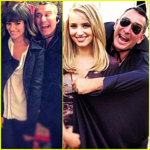 Lea Michele & Dianna Agron: Halloween on the 'Glee' Set!