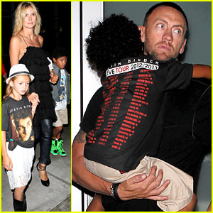 Heidi Klum: Justin Bieber Concert with Martin Kirsten & the Kids!