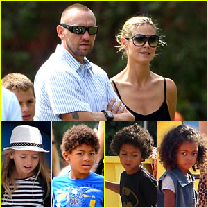 Heidi Klum & Martin Kirsten: Pumpkin Patch with the Kids!