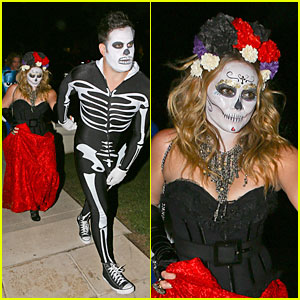 Hilary Duff & Mike Comrie: Day of the Dead Halloween Couple!