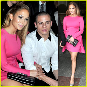 Jennifer Lopez: Valentino Fashion Show with Casper Smart!