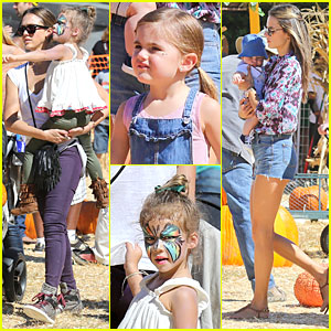 Jessica Alba & Alessandra Ambrosio: Mr. Bones Pumpkin Patch Beauties!