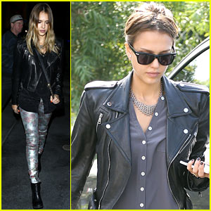 Jessica Alba: Madonna Concert Night Out!