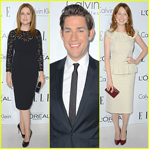John Krasinski & Jenna Fischer - Elle Women in Hollywood 2012