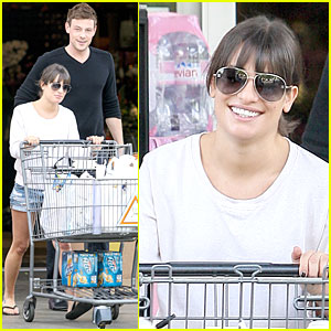 Lea Michele & Cory Monteith: Football Sunday Cookin