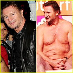 Liam Neeson: Nearly Naked on 'Ellen' For Breast Cancer Awareness!