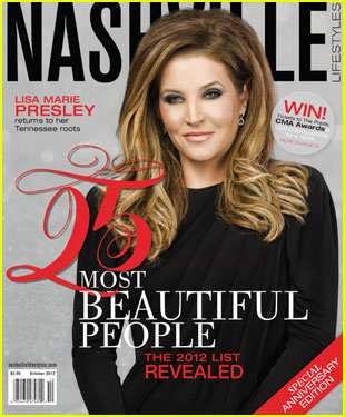 Lisa Marie Presley Covers 'Nashville Lifestyles' Magazine