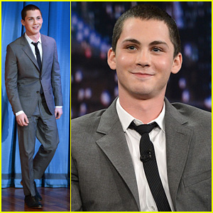 Logan Lerman: 'Late Night with Jimmy Fallon' Visit!