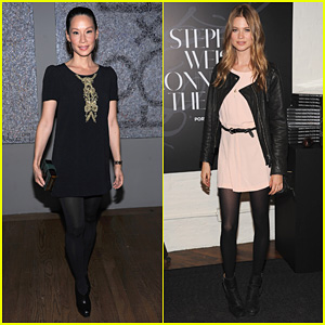Lucy Liu & Behati Prinsloo: 'Connecting The Dots' Launch!