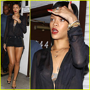 Rihanna: Las Palmas Short Shorts!