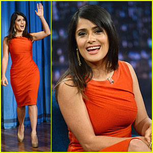 Salma Hayek: 'Late Night with Jimmy Fallon' Appearance!
