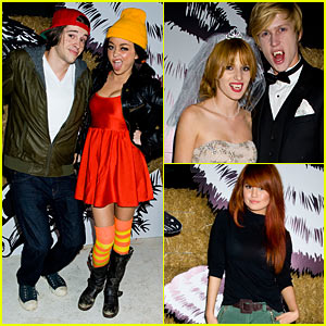 Sarah Hyland & Bella Thorne - Just Jared Halloween Party 2012