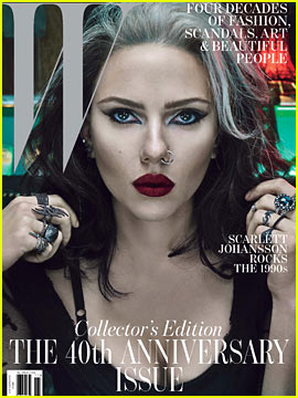 Scarlett Johansson Covers 'W' Magazine's Anniversary Issue