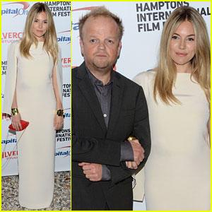 Sienna Miller: Hamptons Film Festival with Toby Jones!