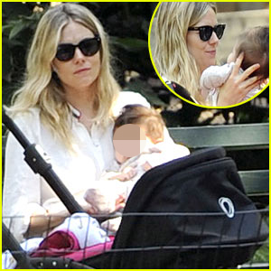 Sienna Miller: Central Park with Marlowe!