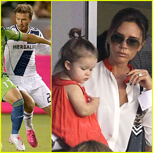Victoria Beckham: David Beckham's Galaxy Defeats Seattle Sounders!