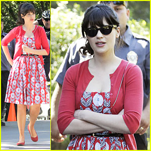 Zooey Deschanel: 'New Girl' Zoo Set!
