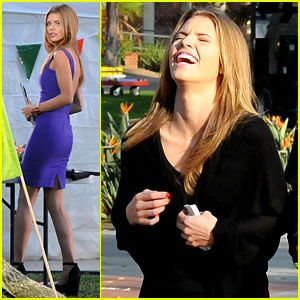 AnnaLynne McCord: '90210' Set with Shenae Grimes & Jessica Lowndes!