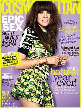 Carly Rae Jepsen Covers 'Cosmopolitan' January 2013