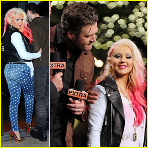 Christina Aguilera: 'The Voice' at The Grove!