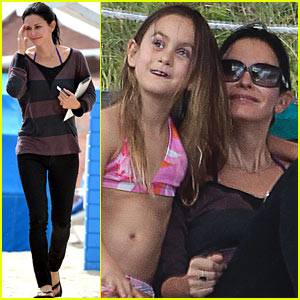 Courteney Cox & Coco: Miami Beach Beauties!