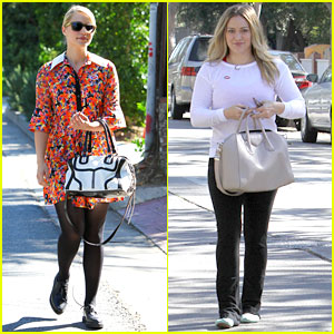 Dianna Agron & Hilary Duff: Ladies Who Vote!