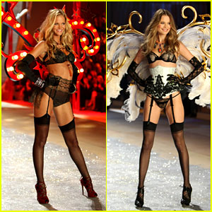 Erin Heatherton & Behati Prinsloo - Victoria's Secret Fashion Show 2012