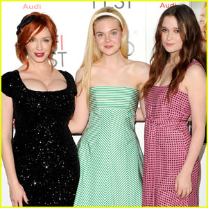 Elle Fanning & Christina Hendricks: 'Ginger & Rosa' Screening!