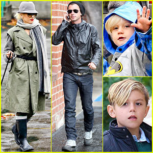 Gwen Stefani: Rainy Family Day!