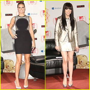 Heidi Klum & Carly Rae Jepsen: MTV EMAs Photo Call!