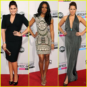 Kelly Rowland & Colbie Caillat - AMAs 2012 Red Carpet