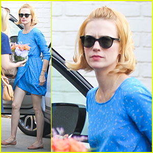 January Jones: Private Party in Bel Air!