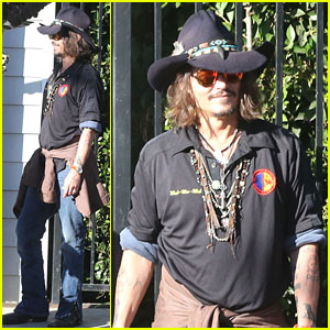 Johnny Depp Plays Daddy at School Event