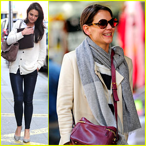 Katie Holmes: Election Day Rehearsals!