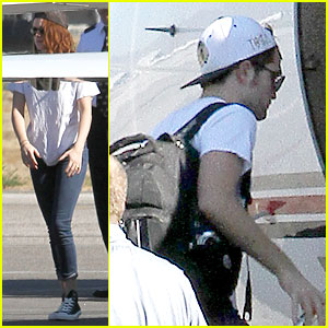 Kristen Stewart & Robert Pattinson Jet Out on Private Plane!