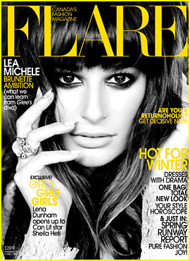Lea Michele Covers 'Flare' January 2013