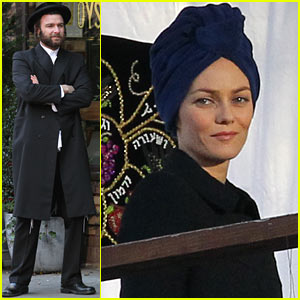 Liev Schreiber &#038; Vanessa Paradis: 'Fading Gigolo' Set Prep!