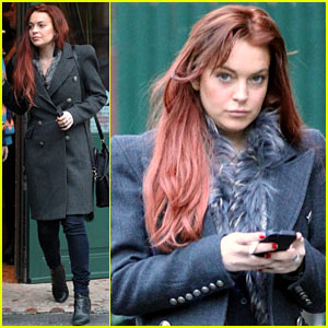 Lindsay Lohan: Sant Ambroeus Dinner with F