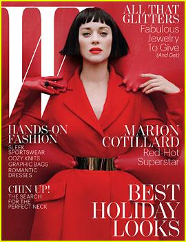 Marion Cotillard Covers 'W' Magazine December 2012